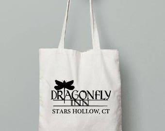 Gilmore Girls Tote Bag // Tote bag // Funny tote bag //  Shower Gift // Bridal Shower // Dragonfly Inn // Stars Hollow