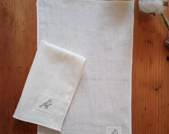 100% organic cotton handkerchiefs - unbleached, no dye or synthetic. Set of two, size small