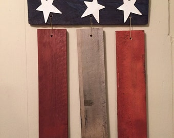 American Flag pallet wood sign- 4th of July / Memorial Day Wooden Sign