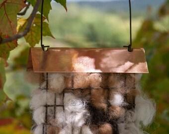 Bird Nesting Materials Alpaca Fiber - Pre Filled Suet Cage