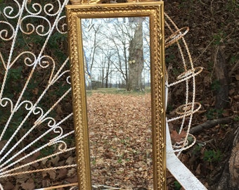 Beach Cottage Mirror, accent mirror,Gold Mirror, seashell design, Choose Color,Size 32 1/2 x10 1/2.