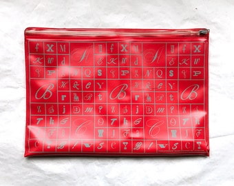 PHOTO-LETTERING     Plastic Briefcase     1960s     TYPOGRAPHY     Lettering