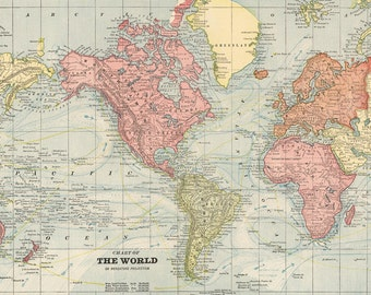 world map printable digital downloadvintage world mapold world map large world