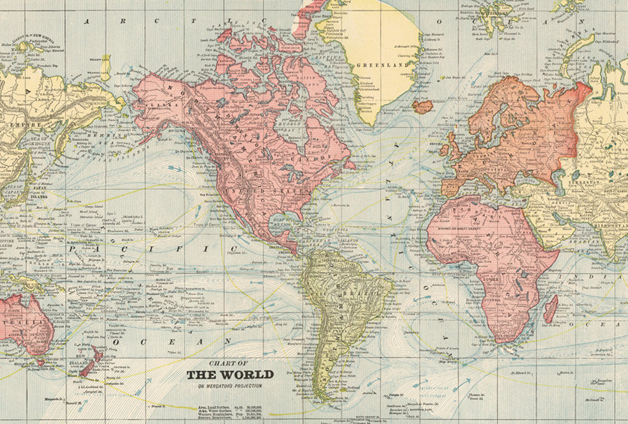World map printable digital downloadntage world mapold world map this is a digital file gumiabroncs Choice Image