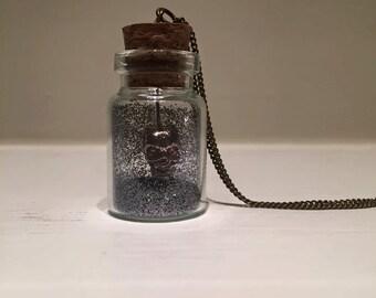 Eerie Skull Jar Necklace