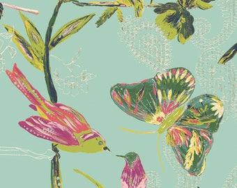 Art Gallery C'est la vie spring bird butterfly fabric