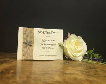 Beach Save The Date Card