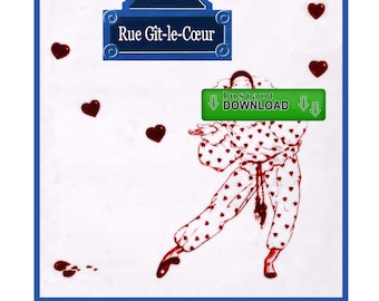 "Poetry e-Book (Instant Download) - ""Rue Git-le-Coeur"""