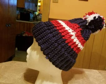 Warm, knitted Texans adult sized winter hat