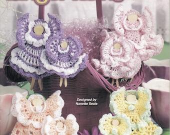 Clothespin Angel Twins ~  Crochet Book  ~  Annie's Attic