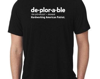 Deplorable Shirt - Donald Trump Shirt -  Political Shirt - Conservative TShirt - Basket of Deplorables - Trump Shirt - Anti Hillary Shirt