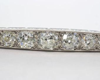 1800s Platinum Old Mine Diamond Pin/Brooch