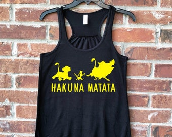 Lion Tank, Womens Lion Tank, Hakuna Matata, Animal Kingdom, Animal Kingdom Tank, Hakuna Matata Tank, Lion King Tank