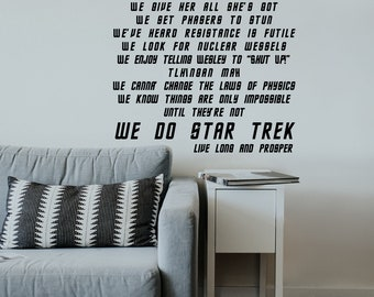 In This House We Do Star Trek - Inspired - Digital Download - 11x17 JPG, SVG - Cut File, Geek Wall Art, Fandom, Printable Poster