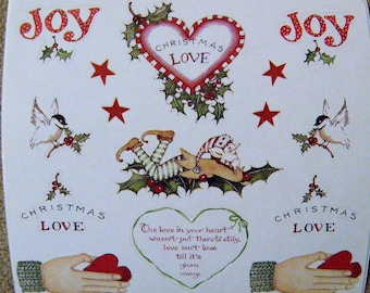 SUSAN BRANCH Sticker Panel - Joy - Christmas, Elf