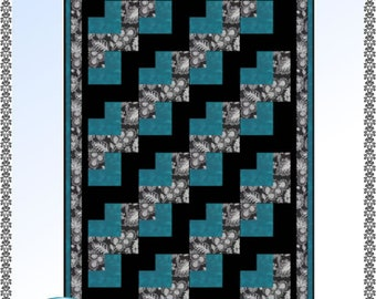 Downloadable Jigsaw Quilt Pattern Easy 3 Yard design