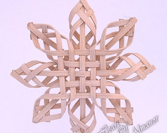 Sierra Star a woven reed star ornament for inside and outside 5 inches