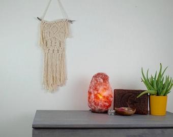 """Macrame Wall Hanging Boho Fiber Art Drift Wood """"Drift"""""""