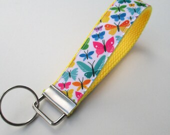 Butterfly Lanyard Keychain for Women, Cool Lanyards for Women, Butterfly Keychain Lanyard, Cute Wristlet Lanyard, Cute Keychains