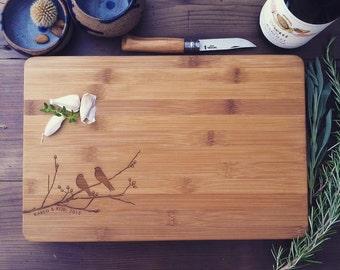 Birds Cutting Board, Tree Cutting Board, Custom Cutting Board, Chopping Block, Custom Cheese Board, Chopping Board, Couple Cutting Board