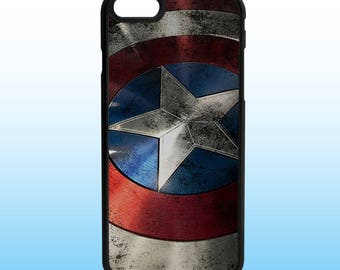 Captain America Shield Custom Iphone Case, Iphone 5, 6, 7, 8, X