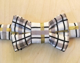 Plaid Bow Tie For Cats