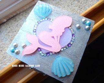 ONLY 2! Pink Glitter Little Mermaid Mini Box Chest