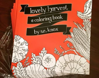 lovely harvest adult coloring book