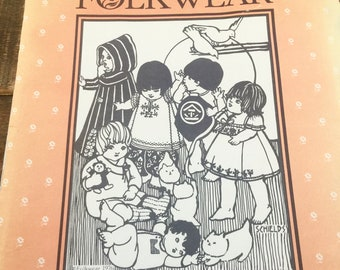1982 Folkwear Pattern 109-Little Folks-Sizes Infant-4T-Ethnic collection of 8 childrens wear-Mexican-Korean-Japanese-Nepali-Morrocan-Turkish