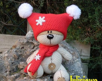 Crochet bear. Teddy bear like a  Fizzy Moon. Forever friends.Crochet  PDF pattern