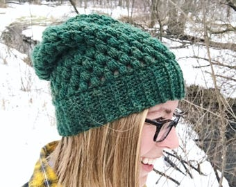 Slouchy Hat, Womens Winter Hat, Beanie, MADE TO ORDER