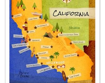 11x14 California Map