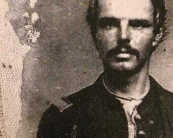Art Mail- photo transfer of The Civil War Boys.