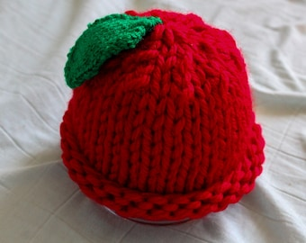 Baby Red Apple Hat