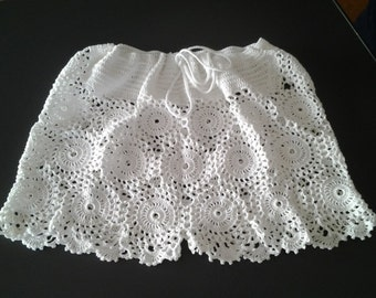 Handmade crocheted saucy shorts  /  cotton 100%  /  made to order
