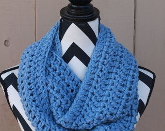 Ready to Ship Denim Blue Infinity Scarf