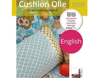 Crochet pattern Cushion 'Olle'