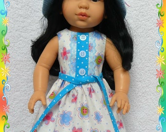 Dress and hat for dolls Soy Tu Paola Reina 42 cm. 2pcs