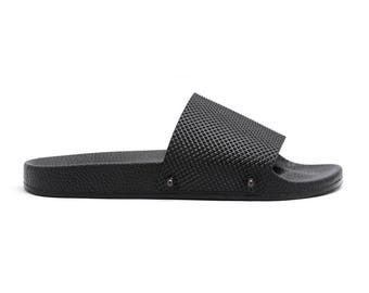 Rubber Slide Sandals Black S#03