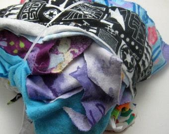Fabric Scraps Flannel and Knit Variety of Colors, Batman Mermaid Scraps Fabric Remnants Quilting Fabric Fiber Arts Fabric Bundle 12 ounces