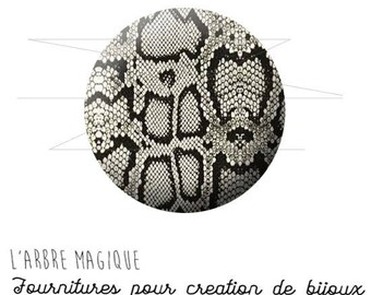 Cabochon 25 mm snake skin fantasy animal wild ref 1571