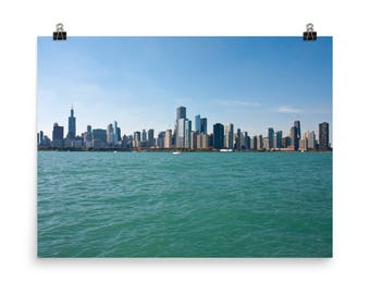 Chicago Skyline Premium Luster Photo, Chicago Lake Front Photo, Chicago from Lake Michigan Photo