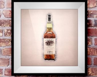 Coal Ila 20 - Crosshatch Whisky Wall Art