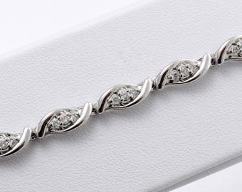 Love Twists Diamond Bracelet
