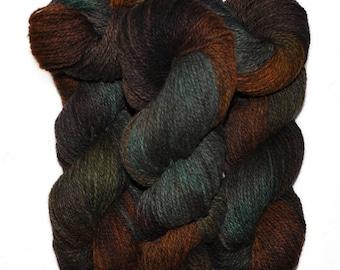 Hand dyed yarn - Alpaca / American wool yarn, Worsted weight, 240 yards - Ayapec