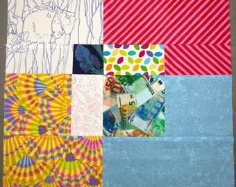 Lynne's Slashed Squares Quilt