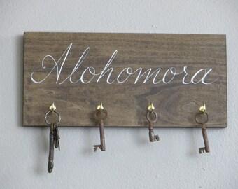 the original HARRY POTTER hand painted alohomora spell key rack holder sign christmas gift