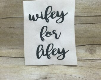 Wifey For Lifey Embroidery Design, Wife Embroidery Design, MRS Embroidery Design