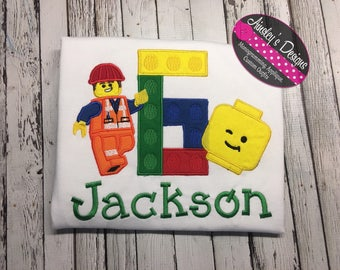 blockman inspired birthday shirt! Personalized! All numbers available!
