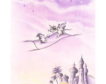 Aladin - Print - Nursery art - Nursery decor - Kids room decor - Children's art - Children's wall art - kids wall art